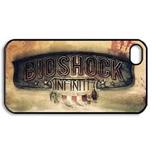 8436170M74341127 DIY Design 7 Game Bioshock Infinite Print Black Case With Hard Shell Cover for Apple iPhone 4/4S
