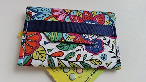 Birth control ribbon case- Discrete pill holder- Color me happy print by LaviLor Bags