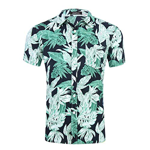 Used, Zeetoo Men's Tropical Hawaiian Shirt Casual Short Sleeve for sale  Delivered anywhere in USA