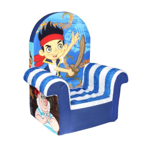 Marshmallow Children s Furniture - High Back Chair - Disney s Jake and Neverland Pirates