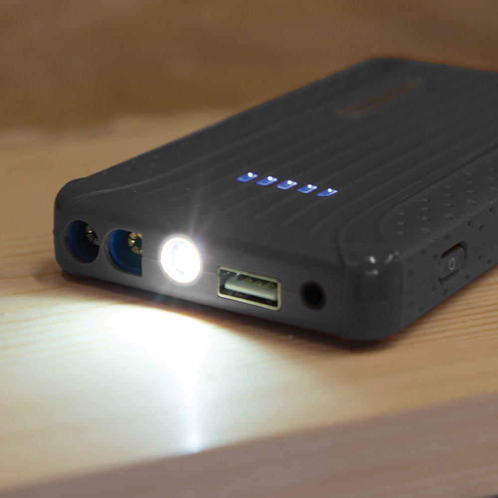 Silverline 423352 Batterie Externe et Booster de D/émarrage 2-en-1
