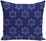 E by design PHGN318BL20GY1-26 PHGN318BL20GY1-26 Holy Stars, Decorative Holiday Geometric Print Pillow, Blue,Blue