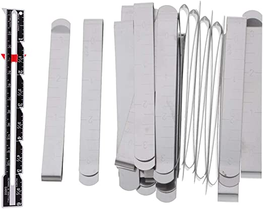 20 Pack De Metal Plateado Clips De Costura Clips para Dobladillo + ...