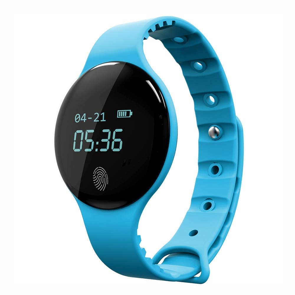 Larmly Smart Waterproof Bluetooth Sport Watch Heart Rate Monitor Call Reminder Smart Watch For IOS Android(Blue) by Larmly