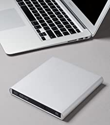 Aluminum External USB DVD+RW,-RW Super Drive for Apple--MacBook Air, Pro, iMac, Mini