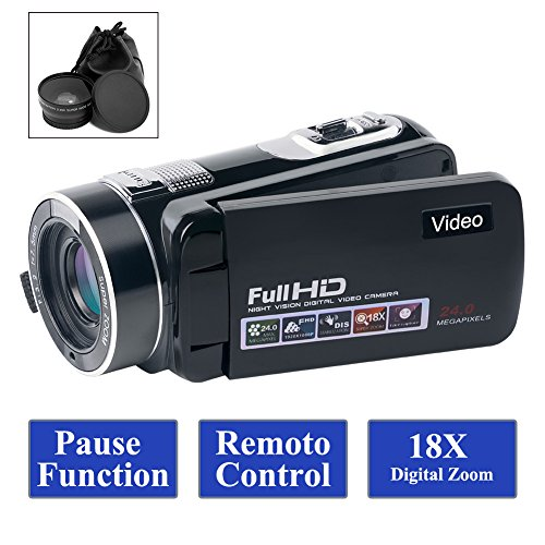 Camcorder Video Camera Full HD 1080p 24.0MP Camcorders with