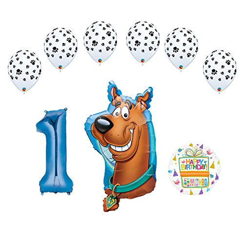Mayflower Products Scooby Doo 1st Birthday Party Supplies Balloon Bouquet - Latex Doo Scooby