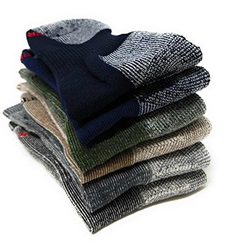 (3 Pair Super-wool Hiker GX Merino Wool Hiking Socks (Large (8-12 Shoe),)