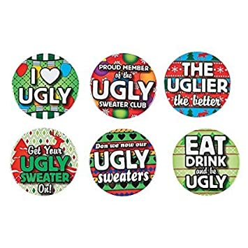 Ugly Sweater Buttons -