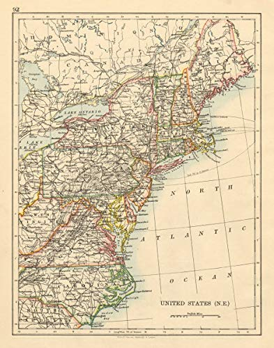 Amazon.com: United States North East New England Appalachia Atlantic ...
