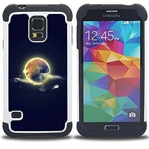 - cool world earth sky space nature - - Doble capa caja de la armadura Defender FOR Samsung Galaxy S5 I9600 G9009 G9008V RetroCandy