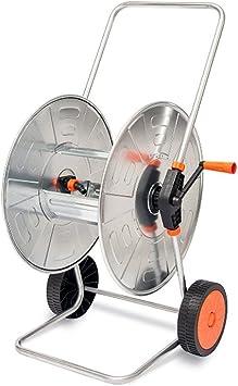 Agrati - AG-315. Carro portamangueras manual de jardín. Articulo apto para mangueras de 110 m (1/2 pulgadas) o de 80 m (3/4 pulgadas). Manguera no incluida. Articulo portátil: Amazon.es: Bricolaje y herramientas