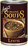 Amy's Organic Lentil Veggie Soup, 14.5 Ounce (8 count) by Amy's