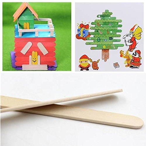 Saver 50pcs paletas de madera palitos de madera artes palos de ...