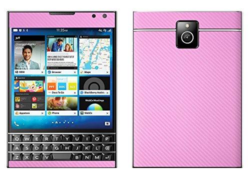 Decalrus - Blackberry Passport PINK Carbon Fiber skin skins decal for case cover wrap CFpassportPink