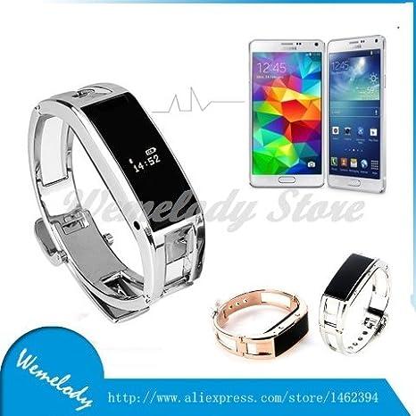 ARBUYSHOP Fit mordió soporte Bluetooth SmartWatch portugués traducción del reloj de pulsera de reloj inteligente D8 para Samsung Android iPhone iOS: ...