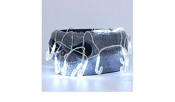 Anglewolf 1,2 m 10 luces LED de cadena exterior hada transparente ...