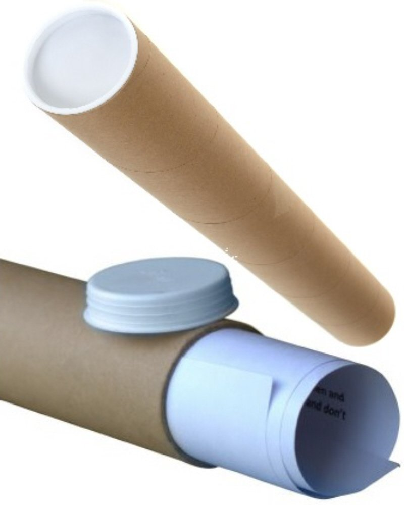 End Caps 5 x A3 Quality Postal Cardboard Poster Tubes Size 330mm x 50mm