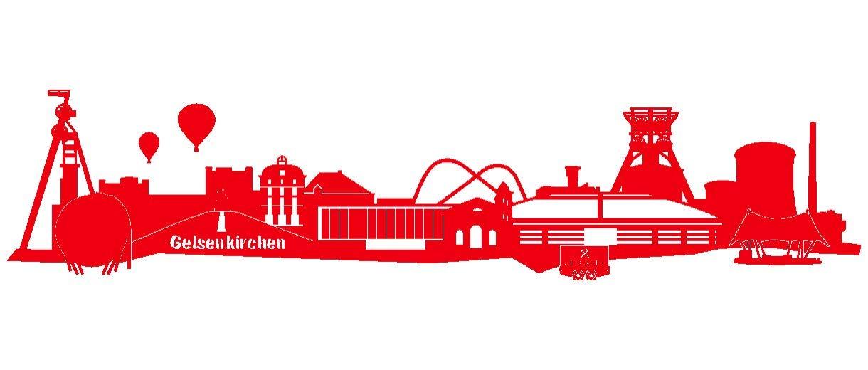 Samunshi® Wandtattoo Gelsenkirchen Skyline Schalke in 6 Größen und 19 Farben (150x33cm königsblau) B00BS4FXWC Wandtattoos & Wandbilder
