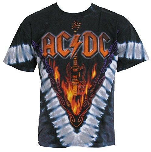 - AC/DC Men's Hell's Bells Tie Dye T-shirt XX-Large Multi