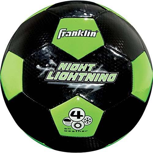 Franklin Sports Glow In The Dark Youth Soccer Ball Size 4...