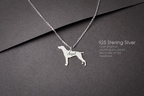 GERMAN Shorthaired POINTER Personalised Tiny Silver Necklace - Pointer Necklace - 925 Sterling Silver, Gold Plated or Rose - Jewelry Shorthaired German Pointer