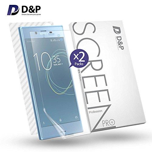 分布個人的に使役(ディー&ピー)D&P Sony Xperia XZs用 100%液晶面全面保護TPUフィルム 超薄0.2mm 透過率99% 「液晶面保護TPUフィルムx2枚+ カーボン繊維背面保護フィルムx1枚」 (Xperia XZs)