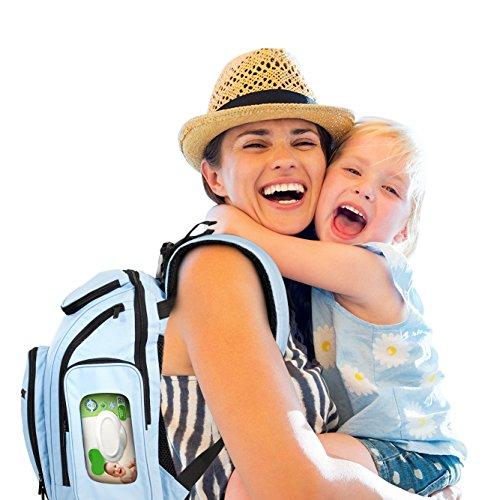 Unisex Diaper Bag Backpack, Waterproof 300D Polyester ~ Has