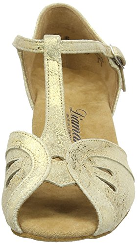 Diamant Damen Tanzschuhe 019-011-311, Women's Ballroom Dance Shoes Gold (Gold Magic)
