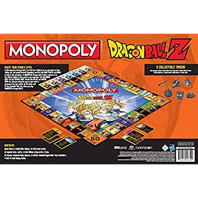 MONOPOLY Dragon Ball Z Board Game | Recruit Legendary Warriors GOKU, VEGETA and GOHAN | Official Dragon Ball Z Anime Series Merchandise | Themed Monopoly Game: Toys & Games