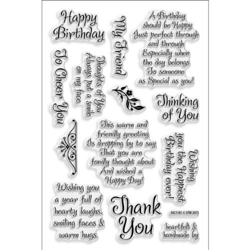 Perfectly Clear Stamp, Friendly Phrases Image ()