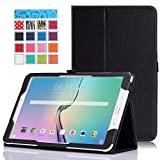 MoKo Tab E 9.6 Case - Slim Folding Cover for Samsung Galaxy Tab E / Tab E Nook 9.6 Inch 2015 Tablet (Fit Both WiFi and Verizon 4G LTE Version), BLACK