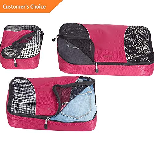 Amazon.com | Sandover Packing Cubes - 6pc Sampler Set 8 Colors Travel Organizer NEW | Model LGGG - 2729 | | Luggage & Travel Gear