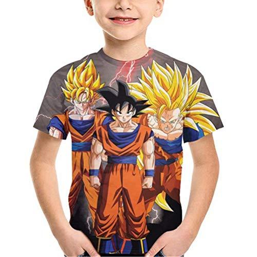 Tsyllyp Goku Vegeta Dragon Ball Z DBZ Boys T-Shirt Girls Shirt Super Saiyan -