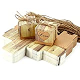 HopingFire 100pcs Weeding Favor Boxes Kraft Paper