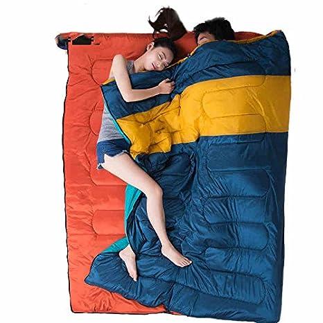 Camping bolsas de dormir, modelos de lujo delgadas multifuncionales primavera al aire libre saco de dormir de campamento ...