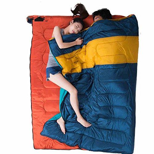 Camping Schlafsäcke, Outdoor-Camping-Schlafsack Frühling und Sommer dünne multifunktionale Luxus-Modelle können im Doppelschlafsack Erwachsene gespleißt werden ,Schlafsack