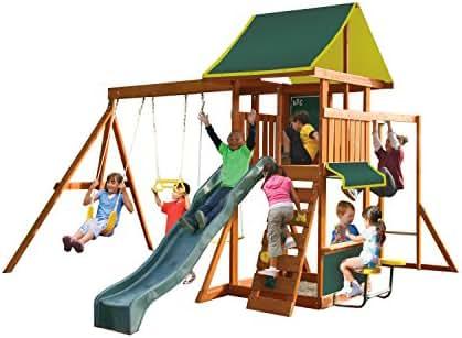 KidKraft Brightside Cedar Wood Swing Set / Playset F23210