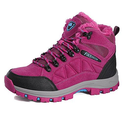 Wanderschuhe Outdoor Boots Wasserdicht 35 Winter Trekking 44 Warm Rutschfest Damen Gefüttert Winterschuhe Herren Pink Gr ZOEASHLEY wqYEpp
