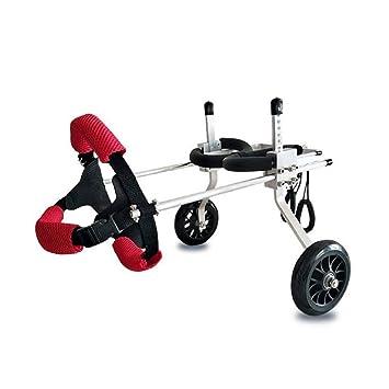 Silla de ruedas para mascotas Tamaño ajustable para el perro Hind Limb entrenamiento Scooter auxiliar, ...