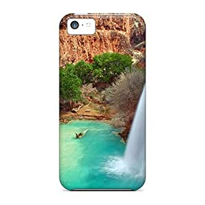 Durable Defender Case For Iphone 5c Tpu Cover(arizona Waterfalls)