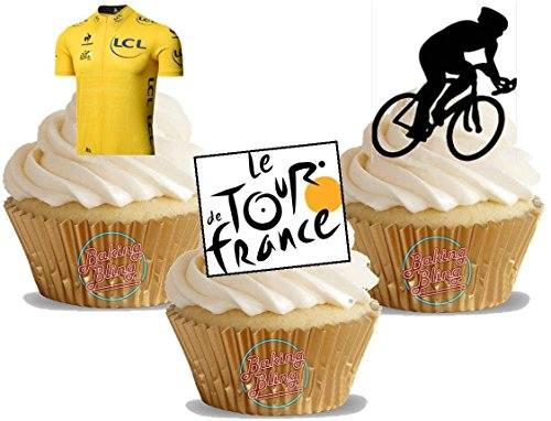 12-x-Tour-De-France-Cycling-Mix-Fun-Novelty-Birthday-Party-PREMIUM-STAND-UP-Edible-Wafer-Card-Cake-Toppers-Decorations-Unflavoured