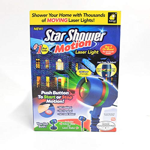 Star Shower Outdoor Laser Christmas Lights Star Projector.Star Shower Motion Laser Light Review Yard Inflatable Life