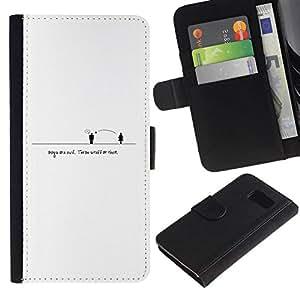 All Phone Most Case / Oferta Especial Cáscara Funda de cuero Monedero Cubierta de proteccion Caso / Wallet Case for Sony Xperia Z3 Compact // People Distance