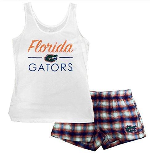 Concepts Sports NCAA Womens's Florida Gators Tide Forge Tank and Short Set White Medium