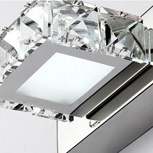 JIN Luxury Fashion LED K9 Crystal Mirror Lamp Bathroom Bedroom Bathroom Mirror Stainless Steel Lamp , D , 3 Heads by DSGVFDSG (Image #3)