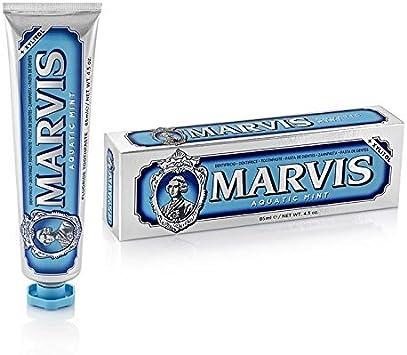 Marvis pasta de dientes de menta acuática, 3-pack (3x 85 ml): Amazon.es: Salud y cuidado personal