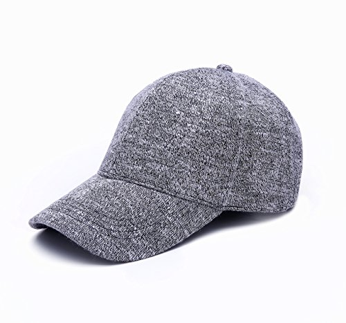JOOWEN Knit Soft Plain Classic Hat Adjustable Baseball Cap (Soft Baseball Cap)