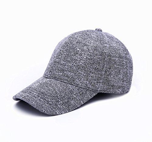 JOOWEN Unisex Knitted Textured Baseball Cap Soft Adjustable Solid Hat