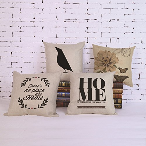 Throw Pillow Covers Cotton Linen Sofa Cushions Case Standard
